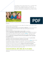 El Desarrollo Físico y Psicológico de Los Niños Entre Los 6 y 8 Años