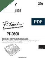 Ptd600 Use Usr Laf427001b