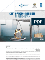 Uzbekistan Cost of Doing Business