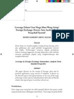 Leverage Dalam Urus Niaga Mata Wang AsingForeign Exchange (Forex) Satu Analisis Dari Perspektif Syariah1