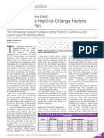 Design of Experiments (DoE) - How to Handle Hard-To-Change Factors Using a Split Plot