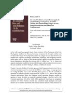Review Baum, Armin D.,Der mündliche Faktor und seine Bedeutung für die synoptische Frage