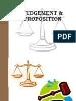 Judgement & Proposition