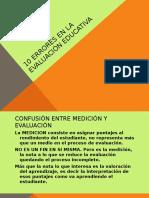 10 ERRORES EN LA EVALUACIÓN EDUCATIVA..pptx