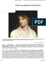 Mary Wollstonecraft e as Origens Do Feminismo – Boitempo Editora