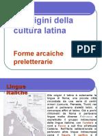 Le Origini della Letteratura Latina