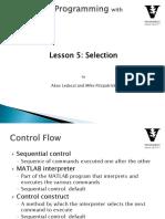 Lesson 5- Matlab