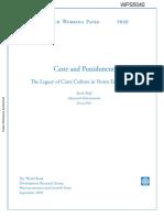 Hoff Et Al. (2009), 'Caste and Punishment'
