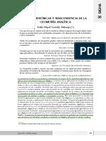 Matematica superior - RAÍCES HISTÓRICAS Y TRASCENDENCIA DE LA GEOMETRÍA ANALÍTICA