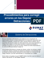 Errores en Deposito de Detraccion SUNAT