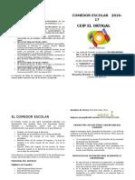 Cuadernillo Comedor 16-17