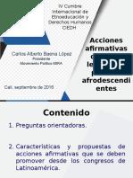 Presentación Cumbre de Etnoeducación - Cali, Valle (2016)