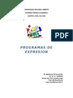 Programas de Expresion 512
