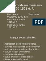 Posclásico Mesoamericano 1000-1521 d