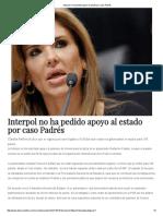 18-10-16 Interpol no ha pedido apoyo al Estado por caso Padrés. - Dossier Político