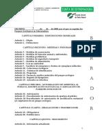 LEGISLACIÓN PARQUES ZOOLÓGICOS BORRADOR DE DECRETO PPZZ EXTREMADURA