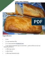 Pão de Liquidificador Sem Glúten
