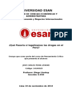 Ensayo sobre el consumo de Drogas en el Perú