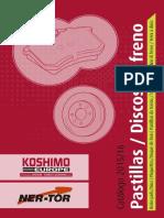 Catalogo Pastillas y Discos de Freno 2015