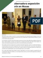 15-10-16 Inaugura Gobernadora exposición de Jorge Marín en Musas. - Termómetro