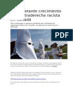 El Inquietante Crecimiento de La Ultraderecha Racista en Canadá