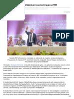 14/10/16 Capacita ISAF Sobre Presupuestos Municipales 2017-Opinionsonora.com