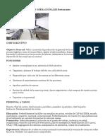 Funciones y Procesos Operacionales Restaurante
