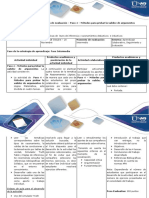 Guía de Actividades y Rúbrica de Evaluación – Paso 4 – Métodos Para Probar La Validez de Argumentos