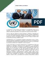 ONU Los Dicursos de Ban Ki Moon y de Obama