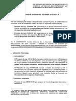 P/Ley 137; Ley de Seguridad Alimentaria, aprobada por unanimidad en Comisión Agraria