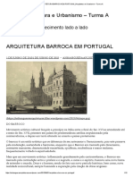 Arquitetura Barroca Em Portugal _ Arquitetura e Urbanismo