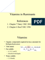 Vitamin in Ruminants Nutrition