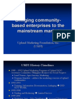 Bringing Community-based Enterprises to the Mainstream Market