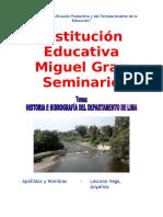 Monografia - Historia e Hidrografía Del Departamento de Lima - 2015 -Isabel Guerrero Ramos