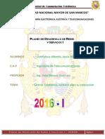 1er Informe-planes de Desarrollo Redes y Serv