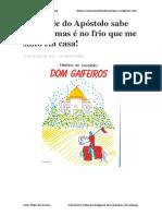A Cidade Do Apóstolo Sabe Receber Mas é No Frio Que Me Sinto Em Casa! - Artur Filipe Dos Santos - o Meu Caminho de Santiago