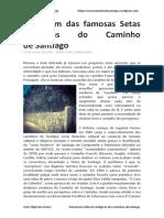 A Origem Das Famosas Setas Amarelas Do Caminho de Santiago - Artur Filipe Dos Santos