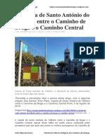 A Capela de Santo António Do Telheiro Entre o Caminho de Braga e o Caminho Central - Artur Filipe Dos Santos