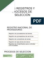 Los Registros y Procesos de Selección