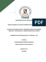 Estudio de Factibilidad Para La Implementación de Una Empresa Industrial, Procesadora y Comercializadora de Cocadas