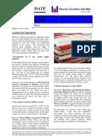 Samram Cement Industry Update