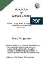 Fairfax County Mt. Vernon Climate Change Presentation