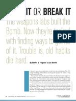 CFR - Make It or Break It