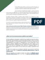 Las Asociaciones Público Privadas - Material