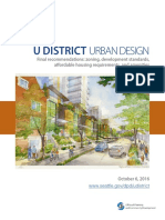 U District Urban Design - Final Recommendations 10-17-16