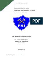 Informe de Voladuras Especiales