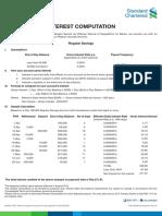 Sample Interest Income Computation