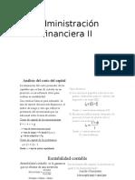 Administración Financiera II