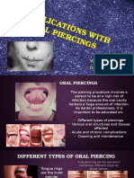 complications with oral piercingsupdated ppt