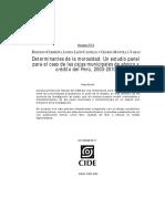 Determinantes de la Morosidad en las Cajas Municipales de Perú